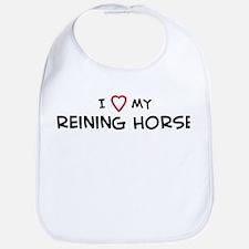 I Love reining Horse Bib