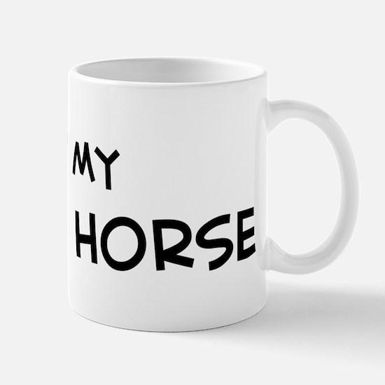 I Love reining Horse Mug