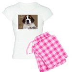 St Bernard Puppy Cookie Women's Light Pajamas