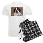 St Bernard Puppy Cookie Men's Light Pajamas