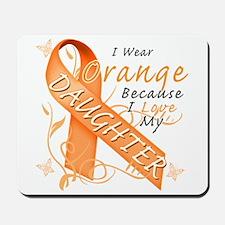 I Wear Orange Because I Love My Daughter Mousepad