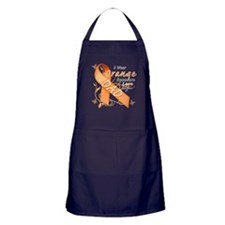 I Wear Orange Because I Love My Dad Apron (dark)