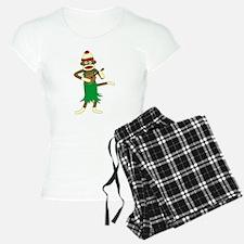 Sock Monkey Ukulele Pajamas