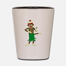 Sock Monkey Ukulele Shot Glass