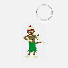 Sock Monkey Ukulele Keychains
