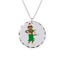 Sock Monkey Ukulele Necklace