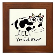 You Eat What Cow? Framed Tile