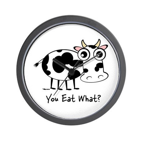 You Eat What Cow? Wall Clock