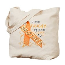 I Wear Orange Because I Love My Brother Tote Bag