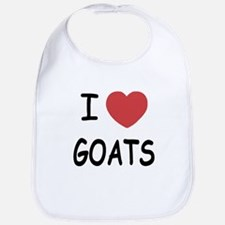 I heart goats Bib