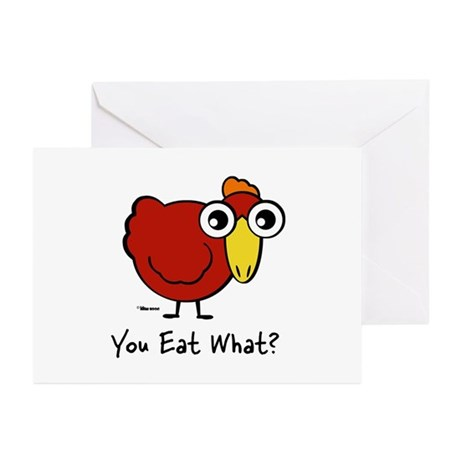 You Eat What Chicken? Greeting Cards (Pk of 10