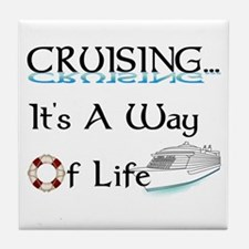 Cruising... A Way of Life Tile Coaster