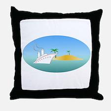 Island Cruise Throw Pillow