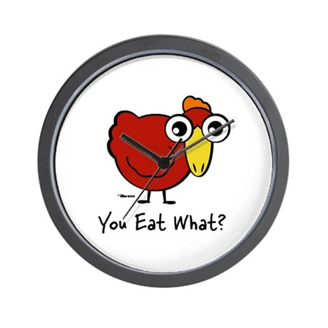 You Eat What Chicken? Wall Clock