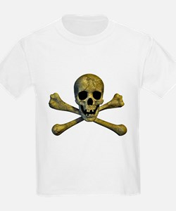 Skull and Bones Plain T-Shirt