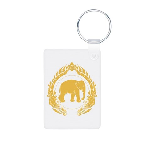 Thai Elephant Aluminum Photo Keychain