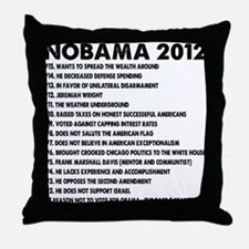 NOBAMA 2012 Throw Pillow