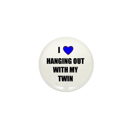 I HEART HANGING OUT WITH MY TWIN Mini Button (100