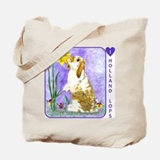 Holland Lop Rabbit Tote Bag