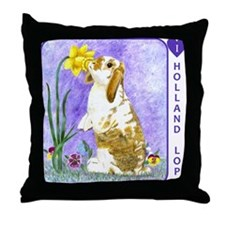 Holland Lop Rabbit Throw Pillow