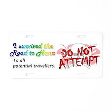 Road to Hana Aluminum License Plate