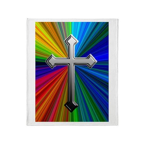 Chrome Cross on Prism - Throw Blanket