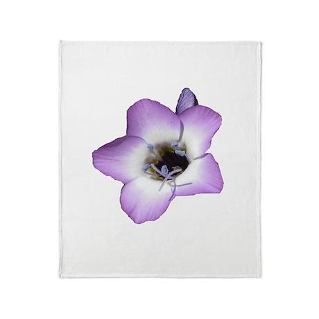 Purple Flower - Throw Blanket