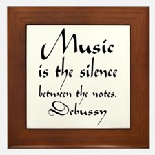 Debussy Silence Quote Framed Tile
