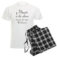 Debussy Silence Quote Men's Light Pajamas