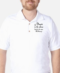 Debussy Silence Quote T-Shirt