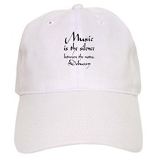 Debussy Silence Quote Baseball Cap