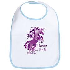 Purple Horses Rock Bib