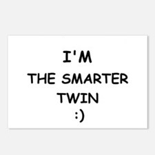I'M THE SMARTER TWIN Postcards (Package of 8)