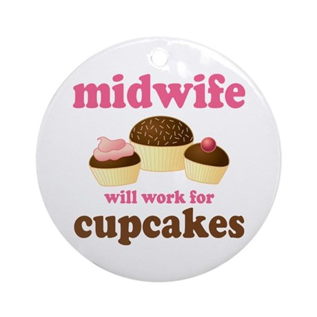 Funny Midwife Ornament (Round)