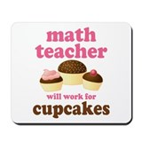 Maths teachers cupcakes Mouse Pads