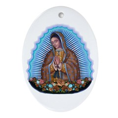 Lady of Guadalupe T5 Ornament (Oval)