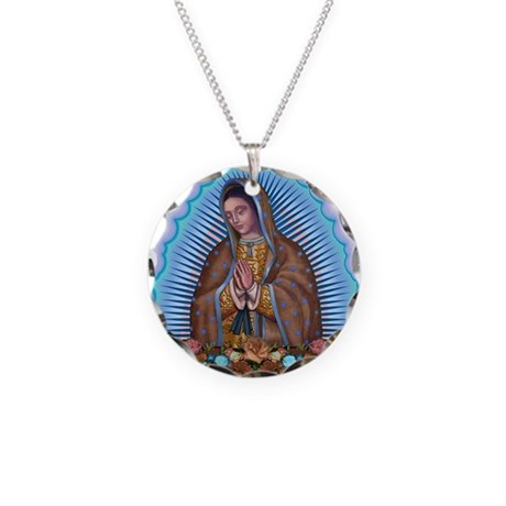 Lady of Guadalupe T5 Necklace Circle Charm