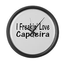 Cool Capoeira Large Wall Clock