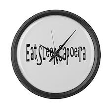 Funny Capoeira Large Wall Clock
