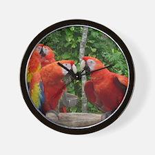 Scarlet Macaws Wall Clock