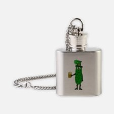 Cute Funny st patricks day Flask Necklace