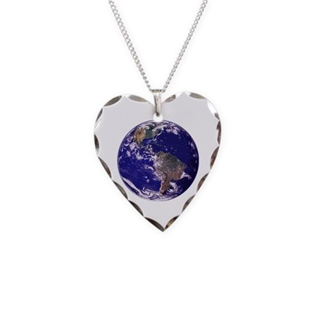One Planet Necklace Heart Charm