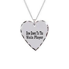 Cute Viola Necklace Heart Charm