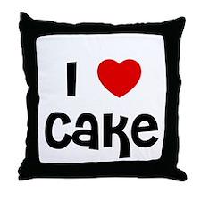 I * Cake Throw Pillow