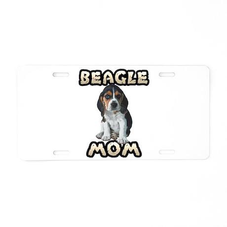 Beagle Mom Aluminum License Plate
