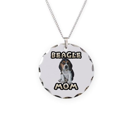 Beagle Mom Necklace Circle Charm