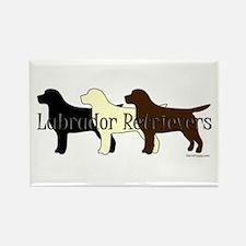 Labrador Retrievers Rectangle Magnet