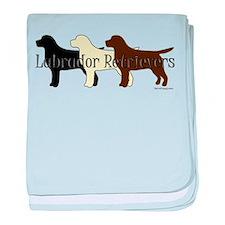 Labrador Retrievers baby blanket