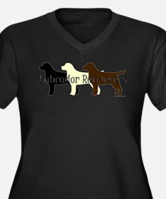 Labrador Retrievers Women's Plus Size V-Neck Dark