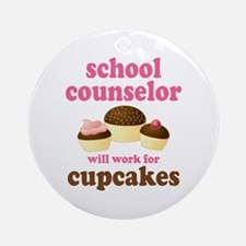 Funny School Counselor Ornament (Round)
